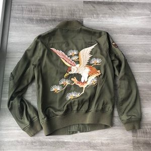 Polo Ralph Lauren Satin Embroidered Bomber Jacket